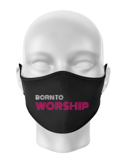 Masca personalizata reutilizabila Born To Worship Negru