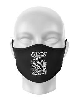 Masca personalizata reutilizabila Fishing addiction Negru