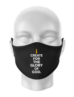 Masca personalizata reutilizabila For The Glory Of God Negru