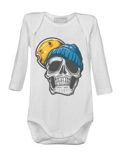 Baby body Dope skull wearing beanie Alb