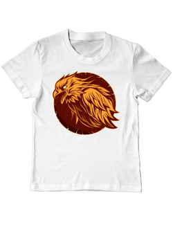 Tricou ADLER copil Flame eagle ilustration Alb