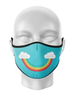 Masca de gura personalizata Rainbow smile