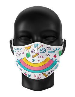 Masca de gura personalizata Child doodle
