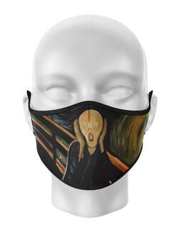 Masca de gura personalizata Scream painting