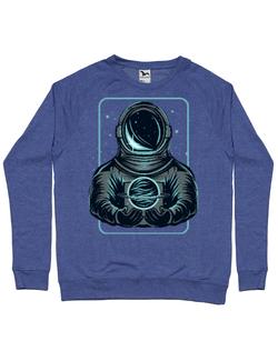 Bluza ADLER barbat Astronaut in space Albastru melanj