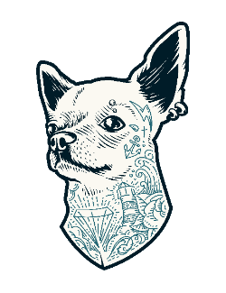 Tattooed dog