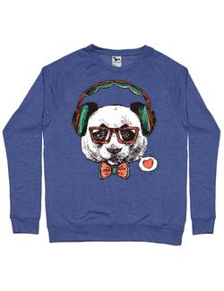 Bluza ADLER barbat Hipster panda Albastru melanj