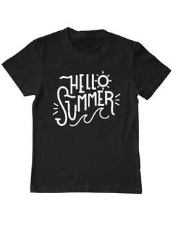 Tricou ADLER copil Hello summer Negru