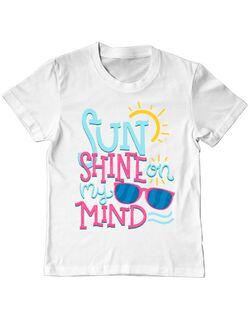 Tricou ADLER copil Sun shine on my mind Alb