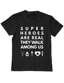 Tricou ADLER copil Medical heroes Negru