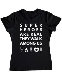 Tricou ADLER dama Medical heroes Negru