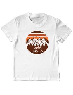 Tricou ADLER copil Beauty mountain Alb
