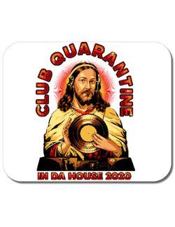 Mousepad personalizat Club quarantine Alb