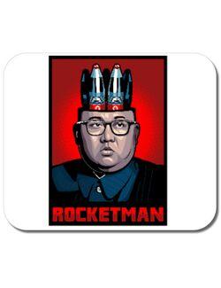 Mousepad personalizat Rocketman Alb