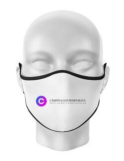 Masca personalizata reutilizabila Campina Contemporana Alb