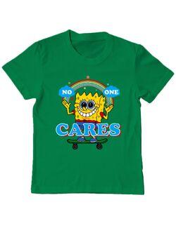 Tricou ADLER copil No one cares Verde mediu