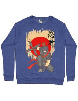 Bluza ADLER barbat Ninja Warrior Albastru melanj