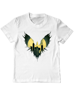 Tricou ADLER copil City Raven Alb