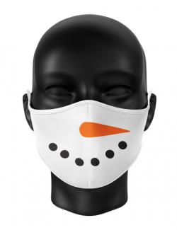 Masca reutilizabila personalizata Snowman