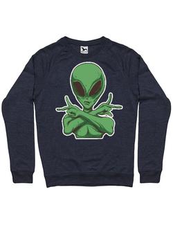 Bluza ADLER barbat Cool Alien Denim inchis