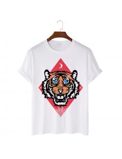 Tricou personalizat alb unisex Tiger Eyes