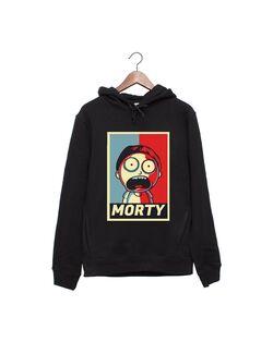 Hanorac personalizat negru unisex Morty