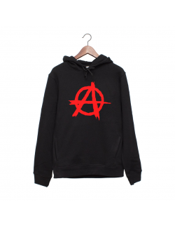 Hanorac personalizat negru unisex Anarchy
