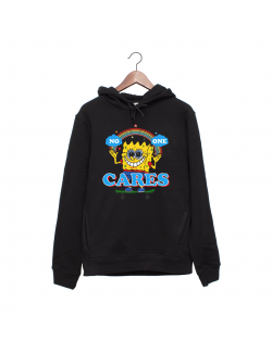 Hanorac personalizat negru unisex No one cares
