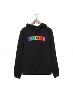 Hanorac personalizat negru unisex Unicorn