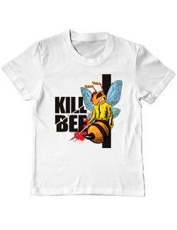 Tricou ADLER copil Kill bee Alb