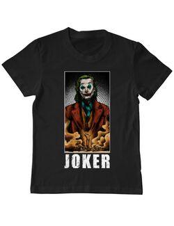 Tricou ADLER copil Joker flames Negru