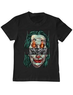 Tricou ADLER copil Joker skull Negru