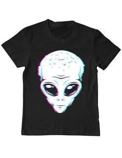 Tricou ADLER copil 3D Alien Negru