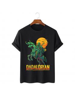 Tricou personalizat negru unisex Dadalorian