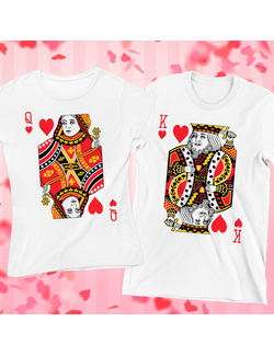 Tricouri Cuplu King and Queen of Hearts