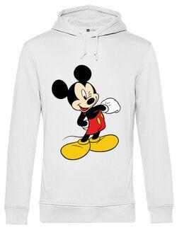 Hoodie barbat cu gluga Mickey Mouse Alb