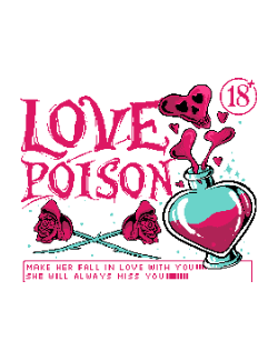 Love poison with roses