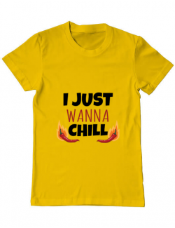 Tricou ADLER barbat I just wanna chill Galben