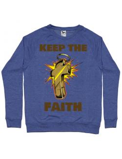 Bluza ADLER barbat Keep the Faith Albastru melanj