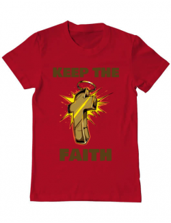 Tricou ADLER barbat Keep the Faith Rosu