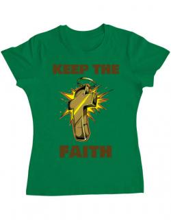 Tricou ADLER dama Keep the Faith Verde mediu