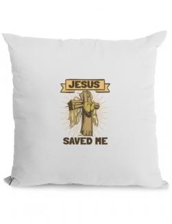 Perna personalizata Jesus Saved Me Alb