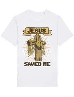 Tricou STANLEY STELLA barbat Jesus Saved Me Alb
