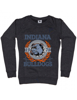 Bluza ADLER dama Indiana Bulldogs Negru melanj