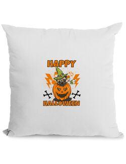 Perna personalizata Halloween Pug Alb
