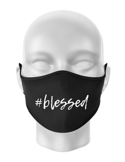 Masca personalizata reutilizabila Blessed Negru