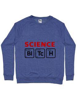 Bluza ADLER barbat Science Bitch Albastru melanj