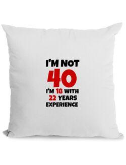 Perna personalizata 40 Birthday Alb
