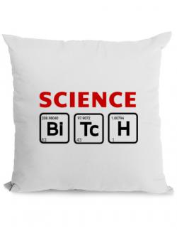 Perna personalizata Science Bitch Alb