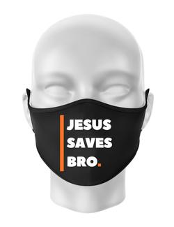 Masca personalizata reutilizabila Jesus Saves Bro Negru